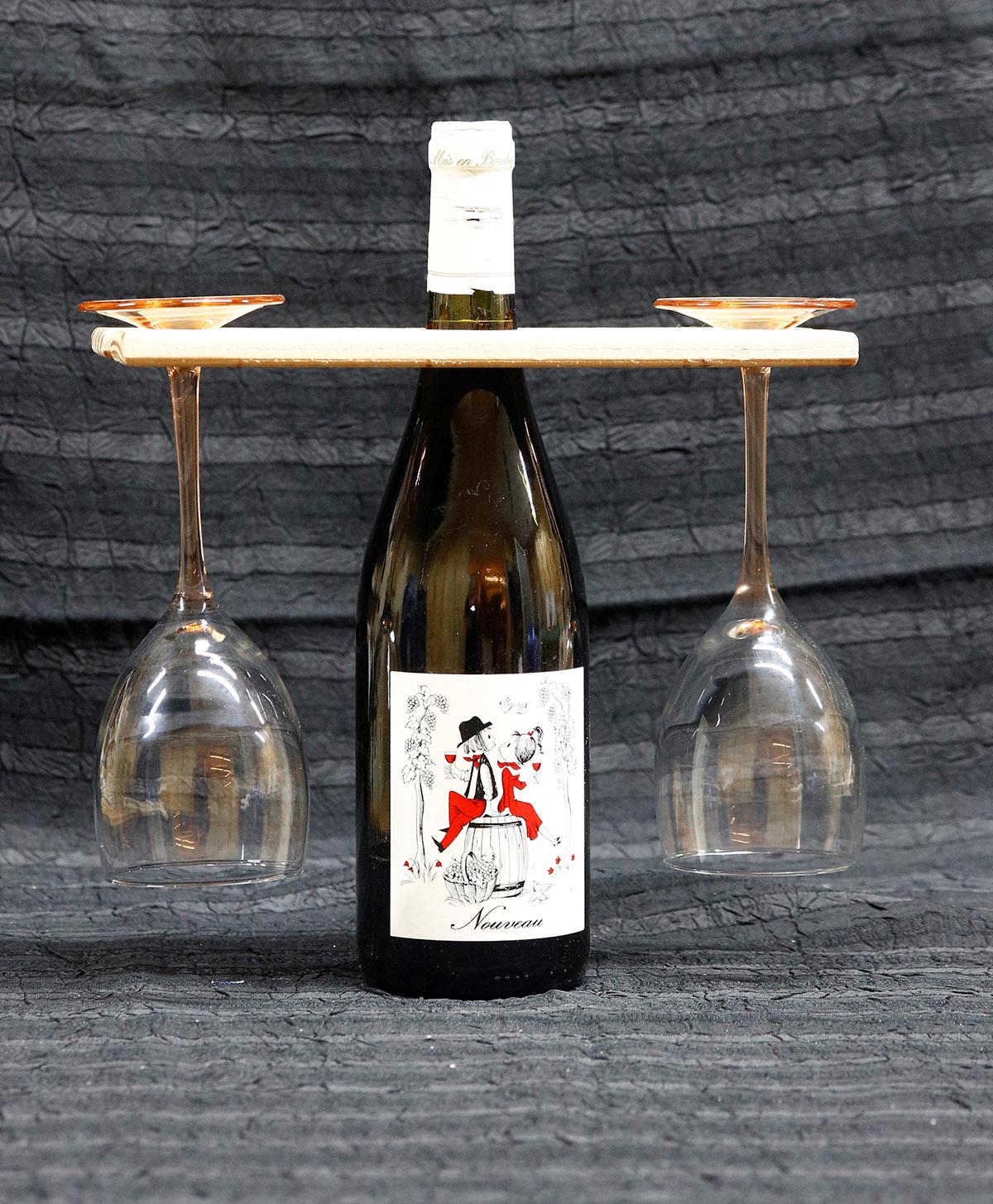 wijnglas houder